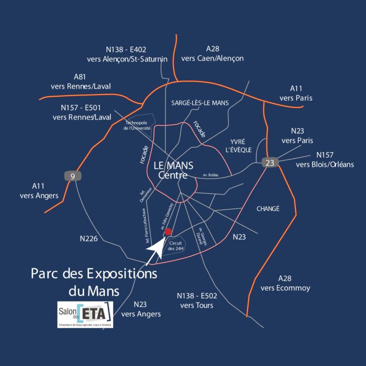 plan accès salon ETA